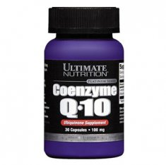 Coenzyme Q10 Ultimate Nutrition (30 капсул) коэнзим Q10
