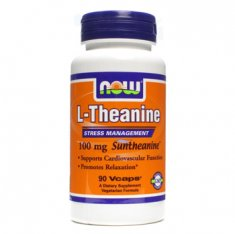 L-Theanine NOW (90 капсул) L-тианин и зеленый чай