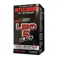 Lipo-6 Black Ultra Concentrate Nutrex (60 капсул) жиросжигатель