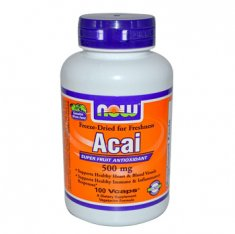 Acai Super Fruit Antioxodant NOW (100 капсул) ягоды Асаи