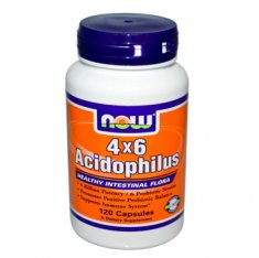 Acidophilus 4x6 NOW (120 капсул) пробиотик