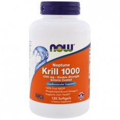 Krill Oil Neptune NOW (120 капсул) масло криля
