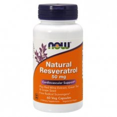 Natural Resveratrol NOW (60 капсул) ресвератрол