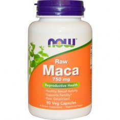 Maca Raw NOW (90 капсул) Мака Перуанская экстракт