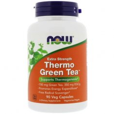 Thermo Green Tea Extra Strength NOW (90 капсул) экстракт зеленого чая
