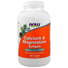 Calcium & Magnesium Softgels NOW (240 капсул) комплекс с кальцием и магнием