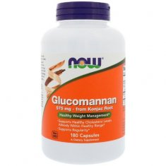 Glucomannan NOW (180 капсул) глюкоманнан