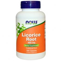 Licorice Root NOW (100 капсул) корень солодки