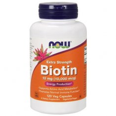 Biotin Extra Strength NOW (120 капсул) биотин