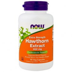 Hawthorn Extract Extra Strength NOW (90 капсул) экстракт боярышника
