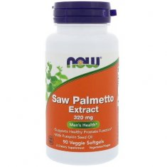 Saw Palmetto Extract NOW (90 капсул) пальма сереноа и масло семян тыквы