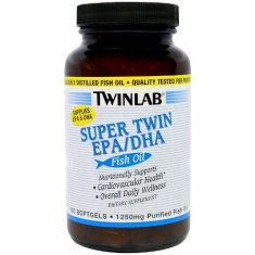 Super Twin EPA/DHA Twinlab (100 капсул) рыбий жир концентрат