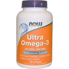 Ultra Omega-3 NOW (180 капсул) рыбий жир концентрат