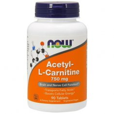 Acetyl-L-Carnitine NOW (90 таблеток) ацетил-L-карнитин