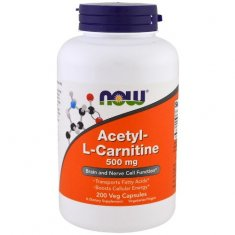 Acetyl-L-Carnitine NOW (200 капсул) ацетил-L-карнитин