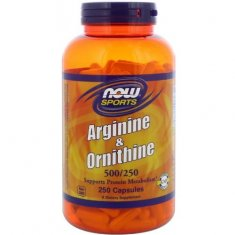 Arginine & Ornithine NOW (250 капсул) аргинин и орнитин