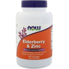 Elderberry & Zinc NOW (90 пастилок) бузина и цинк