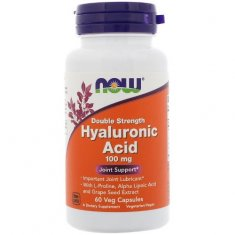 Hyaluronic Acid Double Strength NOW (60 капсул) гиалуроновая кислота