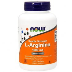 L-Arginine Double Strength NOW (120 таблеток) L-аргинин