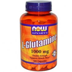 L-Glutamine Double Strength NOW (120 капсул) L-глютамин