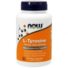 L-Tyrosine Extra Strength NOW (90 капсул) L-тирозин