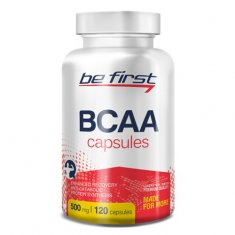 BCAA Capsules Be First (120 капсул) БЦАА аминокислоты