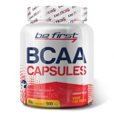 BCAA Capsules Be First (350 капсул) БЦАА