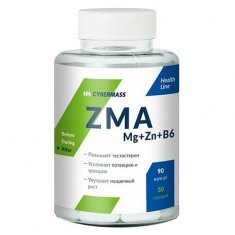 ZMA Mg+Zn+B6 Cybermass (90 капсул) магний, цинк и витамин В6