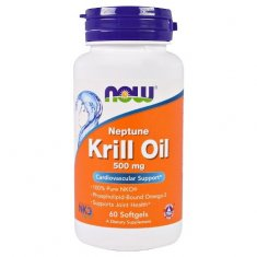 Krill Oil Neptune NOW (60 капсул) масло криля