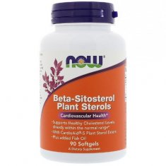 Beta-Sitosterol Plant Sterols NOW (90 капсул) комплекс фитостеролов