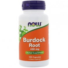 Burdock Root NOW (100 капсул) корень лопуха экстракт