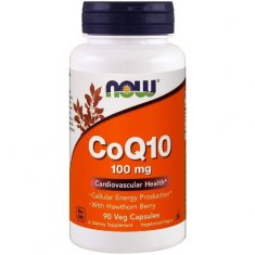 CoQ10 with Hawthorn Berry NOW (90 капсул) коэнзим Q10 и боярышник