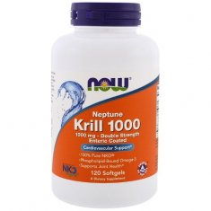 Krill 1000 Double Strength NOW (120 капсул) масло криля