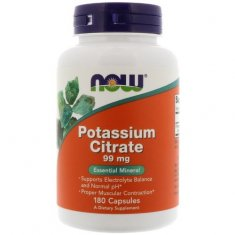 Potassium Citrate NOW (180 капсул) цитрат калия