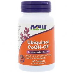 Ubiquinol CoQH-CF NOW (60 капсул) убихинол